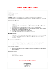 Free Best Mba Fresher Resume Sample Templates At