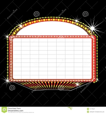 Marquee Sign With Lights Theater Marquee Sign Stock Vector Illustration Of Graphics
