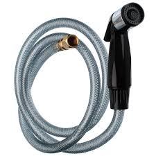 kitchen sink spray hose head in black