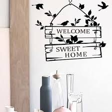 family vinyl wall decals welcome sweet home decoration wall decals decorative removable vinyl wall stickers for family vinyl decal family monogram vinyl