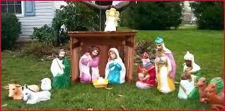 ultimte outdoor manger set nativity blow mold clssic sle outdoor manger set