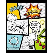 blank ic book for kids create your own ics with this ic book journal notebook over 100 pages large big 8 5 x 11 cartoon ic book with lots