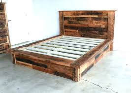 rustic platform beds with storage. Reclaimed Wood Storage Bed Platform With Frame . Rustic Beds