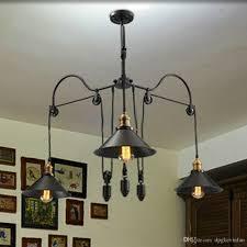 loft style vintage industrial lighting pulley pendant lights 3 lamps island foyer pendants dinning pendants study room metal pendant lighting drum