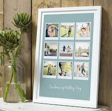 personalised polaroid al in 23mm white frame sea blue background 9 images