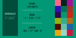 Cmyk Color Chart Cool Exploring Emerald Pantone's 44 Color Of The Year Signature44