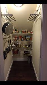 under stairs pantry ikea shelves rod and hooks make my