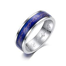 Titanium Temperature Color Chart Kaiyufu Jewelers 6mm Lord Of The Rings Fan Emotional Color