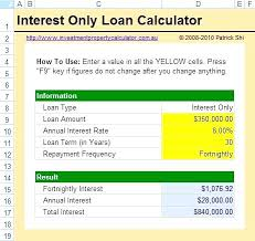 Interest Only Amortization Schedule Excel Mortgage Loan Calculator ...