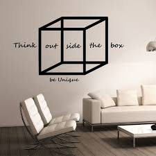 wall art for office. Geometric Wall Decal Think Outside The Box Design Mural School Science Education Art Office Poster For