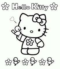 Hello Kitty Kleurplaten