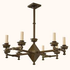 eight light chandelier with electric candles