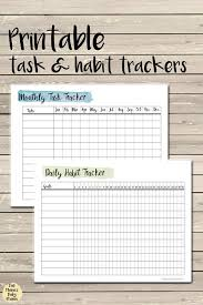 Free Printable Task And Habit Trackers For Your Planner Planners