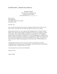 Sample Cover Letter Uk Resume Cover Letter Legal Secretary