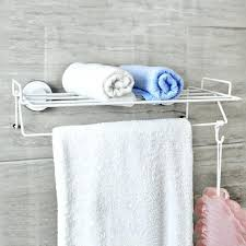 hanging towel on bar. Brilliant Towel Hanging Towel Bar South Strong Suction Cup Rack Intended  For On O