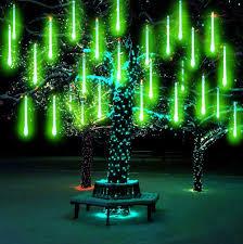 Green Solar Lights Amazon Com Muequ Led Meteor Shower Lights Waterproof