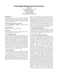 Organizational Design For Knowledge Management Pdf Knowledge Management Instruments