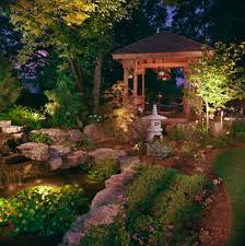 japanese outdoor lighting. A Pavilion, Carp Pond, Beautiful Trees And Garden Paths Should All Be Highlighted Japanese Outdoor Lighting H