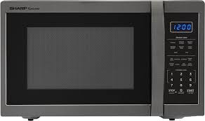 sharp carousel countertop microwave oven black stainless steel smc1452ch