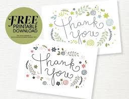 Free Printable Thank You Postcards Free Printable Thank You Card Download She Sharon