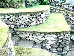 installing retaining wall blocks on slope installing retaining wall blocks retaining wall blocks dry stone retaining