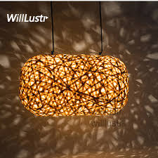 bamboo pendant light. Willlustr Modern Bamboo Pendant Lamp Wood Suspension Light Handmade Lighting Cocoon Hanging Hotel Restaurant Lounge