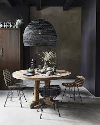 black wicker pendant lamp Ø60x50cm