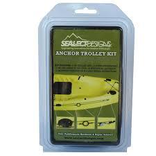 Sealect Designs Anchor Trolley Kit For Kayaks Sealect Designs Anchor Trolley Kit Ideal For Kayak Fishing