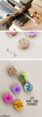 Upcycle wine corks and turn them into pendants.