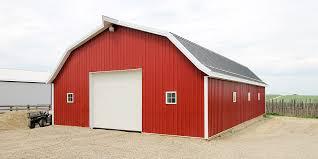 farm barn. Post-Frame Farm Barn Construction A