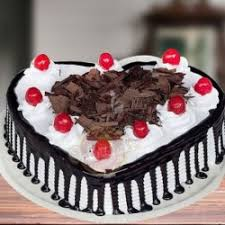 Order Fresh Heart Shape Black Forest Cake In Delhinoidagurgaon