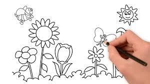 Vẽ Vườn Hoa Đơn Giản - Tô Màu Bức Tranh Vườn Hoa - YouTube