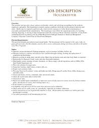 Resume Sample For Housekeeping Job For Free Gallery Of Examples