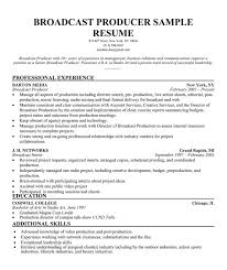 Broadcast Producer Resume Sample (http://resumecompanion.com)