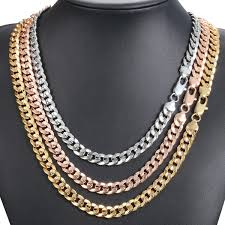 image is loading hammered curb cuban 9mm womens mens necklace chain