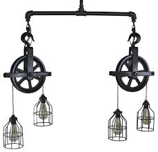 pulley pendant lighting. Pulley Pendant Lighting Double Barn Ceiling Light Industrial G