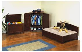 Sonoma Mahogany Furniture Pet Bedroom Set. This adorable furniture set for  your pet includes a platform bed, toy chest and wardrobe.