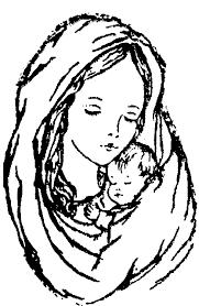 Madonna Maria Con Bambino Gesù Disegno Da Colorare Gratis Disegni