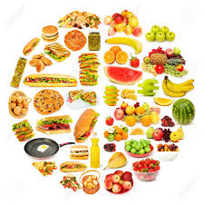 Circle with lots of food items Stock Photo - 12109549