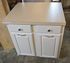 the cabinet is painted and the countertop damage has been spackled smooth the handyman s