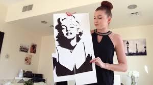 diy audrey hepburn and marilyn monroe canvas paintings