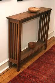 walnut hall table by fredric blum