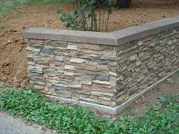 stacked stone retaining wall creative faux panels