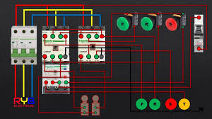star delta starter control circuit diagram latest electrical jobs three phase dol starter control and power wiring diagram reverse forward limit switch