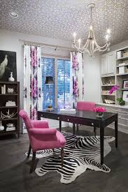 amazing home offices women. Black And White Office With Pink Accents Amazing Home Offices Women