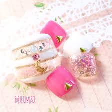 まいまい 公式ブログ 100均ラメマニキュアで出来る春のピンク