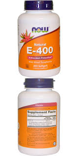 <b>Natural E</b>-<b>400 with Mixed</b> Tocopherols, 250 Softgels by Now Foods ...