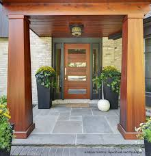 entrance with contemporary fir front door