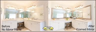 large bathroom mirror frame. Bathroom Mirror With Frame Added To Existing Over Sink Large E