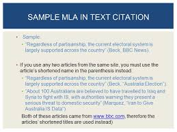 Current Mla Edition Mla In Text Citation Article In Anthology